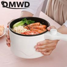 DMWD wielofunkcyjna kuchenka elektryczna Hotpot Mini non-stick Food Noodle gotowanie patelnia jajko parowiec zupa naczynie do podgrzewania patelnia ue tanie tanio Ce ue Zupa gulasz Związek dno 600W 220 v Z tworzywa sztucznego 1 2L 2N4DZG-JZ-C18