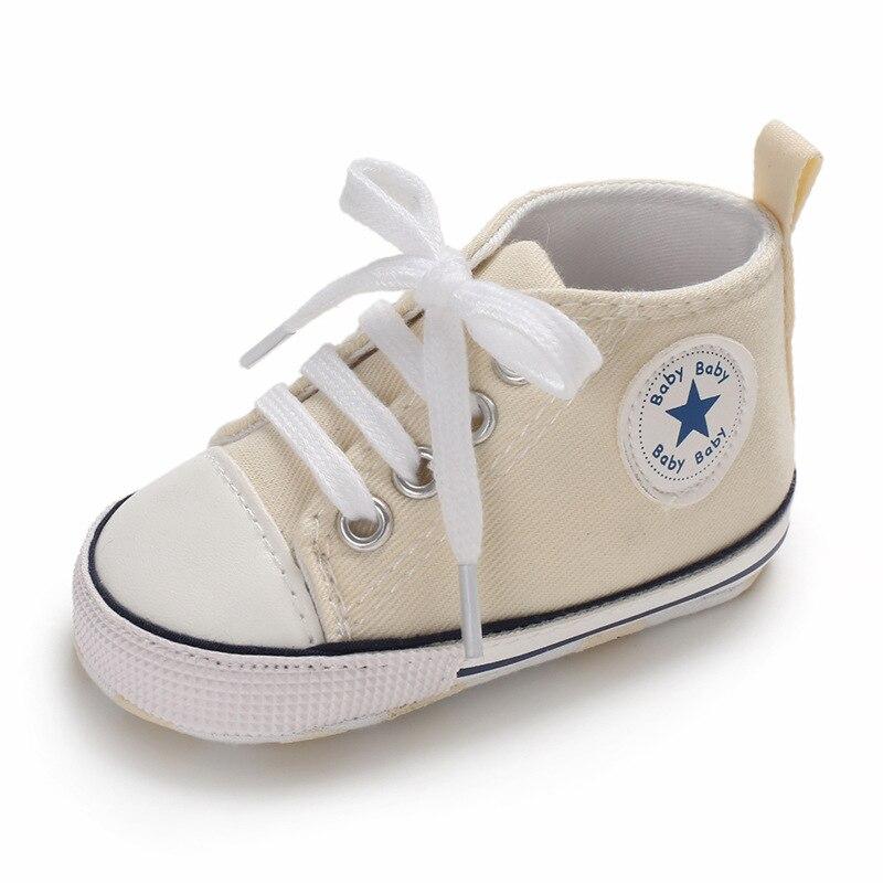 Chaussures bébé Garçon Fille Solide Sneaker Coton Doux Semelle Antidérapante Nouveau-Né Infantile Premiers Marcheurs Bambin décontracté Sport Chaussures de Berceau 9