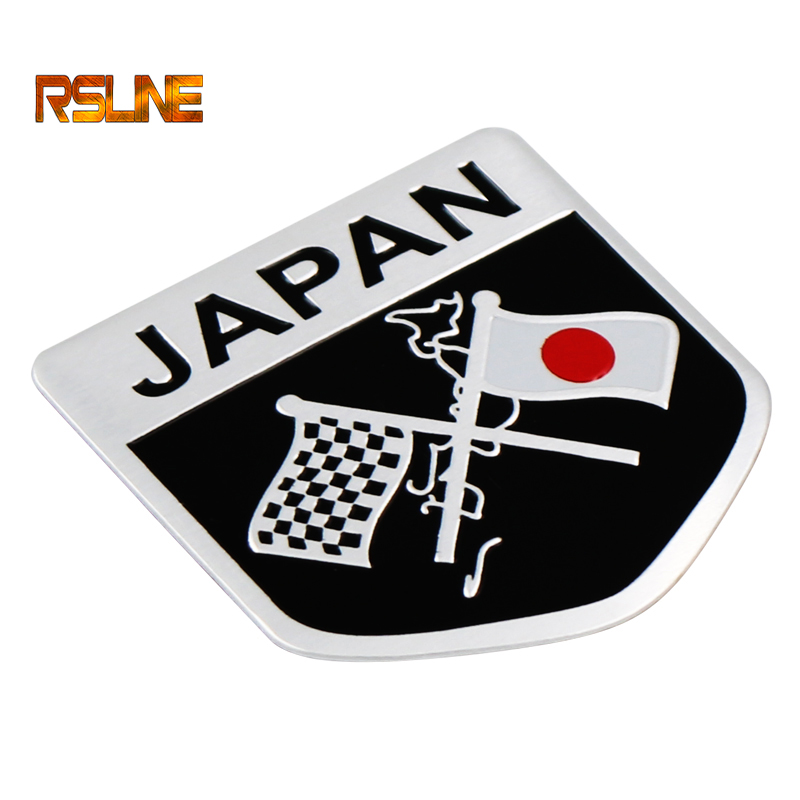1 PCS 3D Car Styling Metal Japanese Flag Sticker Emblem Badge Logo Decal For Toyota Honda Suzuki Nissan Mazda Subura Lexus