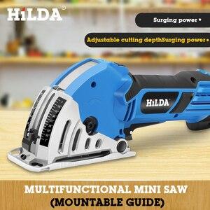 Image 5 - HILDA Mini Elektrische Kreissäge DIY Multifunktionale Elektrische Saw Power Tools dreh werkzeug kreissäge blätter für holz