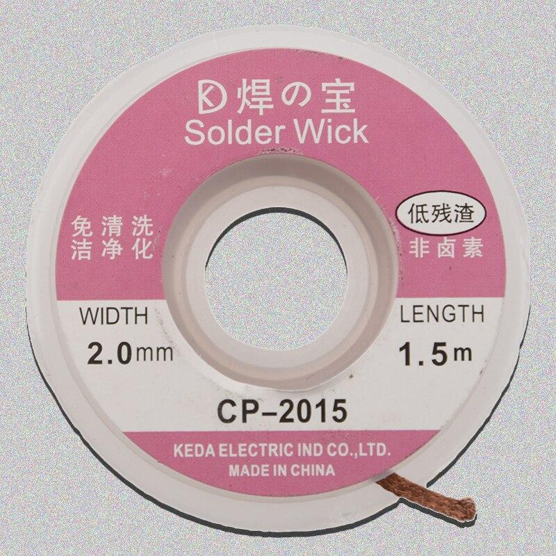 TOP 5ft/1.5M 2.0mm Desoldering Braid Solder Remover Wick