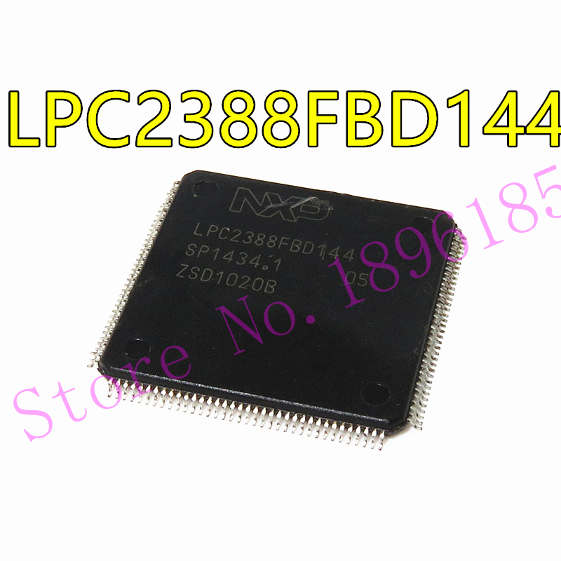 LPC2388FBD144 LPC2388 LQFP-144 одночиповый 16-битный/32-битный micro; 512 КБ flash с ISP/IAP, Ethernet, устройство USB 2,0/хост/OTG,
