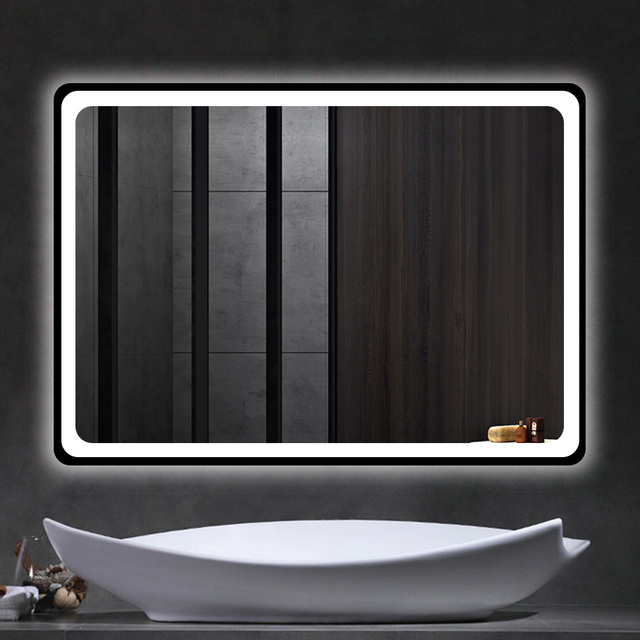 "LED-600 800 32"" x 24"" Bathroom Mirror, Backlit Mirror with Led Lights Lighted Makeup Vanity Wall-Mounted Horizontally, Rectangul 1"