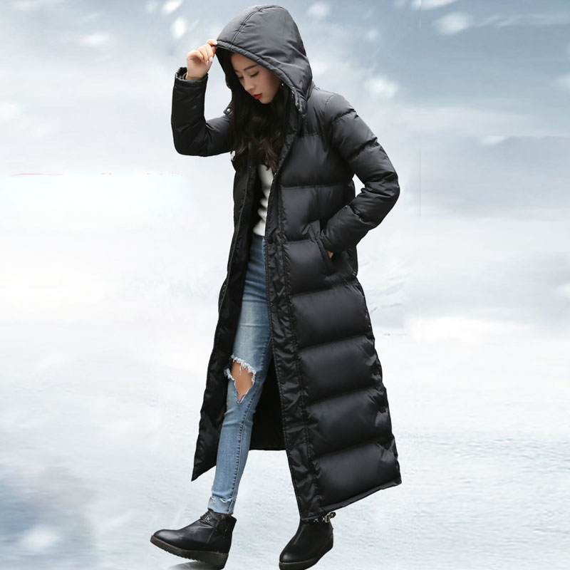2019 Winter Jacket Women Long Down Parka 90%White Duck Down Coat Hooded Thick Warm Plus Size Female Waterproof Winter Coat Women