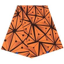 Оранжевая ткань с треугольным принтом хлопок les дизайн Модная африканская ткань Нигерия, Анкара