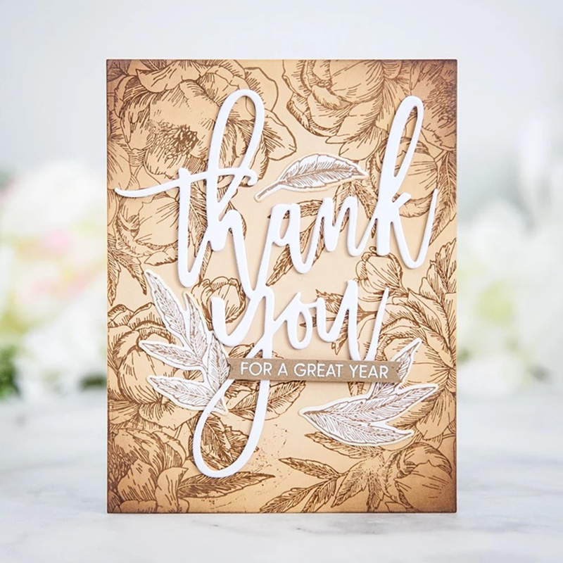2019 New Arrival Metal <font><b>Cutting</b></font> Craft <font><b>Die</b></font> and Scrapbooking For Paper Card Thankyou Word Embossing Frame <font><b>Merry</b></font> <font><b>Christmas</b></font> Stamp Set image