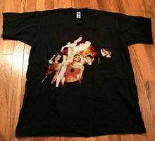 Vintage 90 s buraco celebridade pele camiseta s xxl reprint