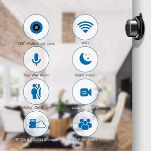 Image 2 - Tigenkey ワイヤレスミニ無線 LAN 720 1080P IP カメラクラウドストレージ赤外線ナイトビジョンスマートホームセキュリティベビーモニターモーション検出