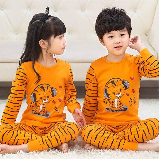Pijamas de los niños de Otoño de niñas niños 4