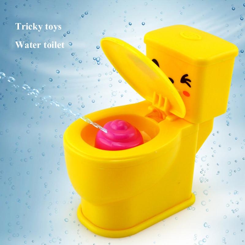 Children's Creative Trick Toy Toilet Water Gun Mini Water Spray Toilet