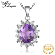 2.1ct Amethyst Gemstone Ring Pear Cut Gemstone Pendant Set 925 Solid Sterling Silver 2015 Brand New Vintage Gift Women Jewelry цена