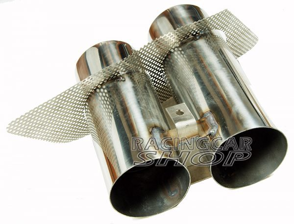 Quad Muffler Exhaust Tips Pip Stainless Steel 1PAIR For Mercedes Benz W117 C117 CLA 2014UP  M094W 5