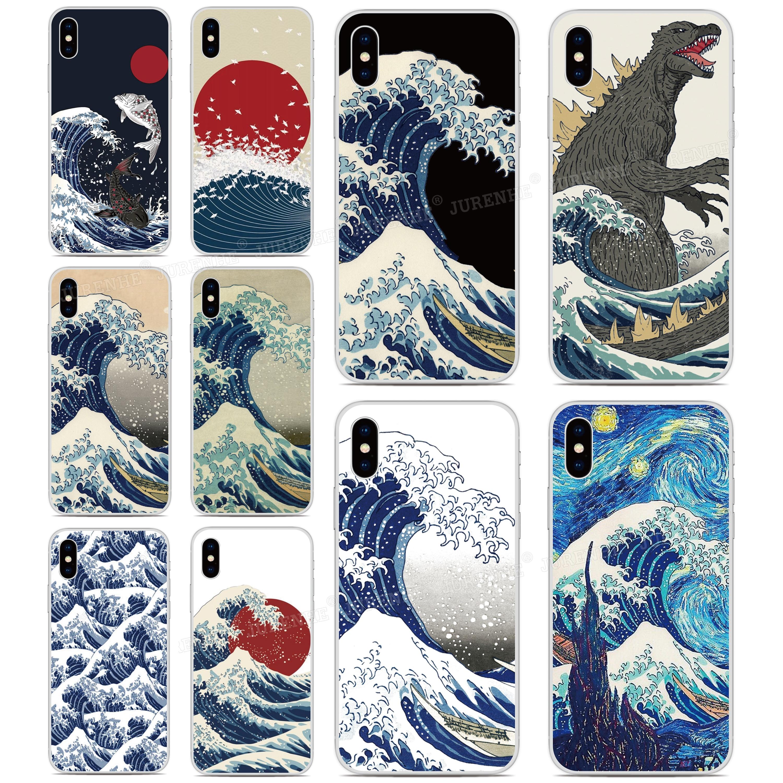 Wave Off Kanagawa Cover For LG Q70 K61 K51s K50s K40s Q60 K50 K40 K30 K20 Stylo 5 4 G7 G8 G8X G8S V50 V60 V50s Thinq Phone Case