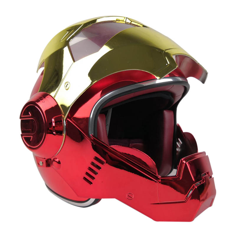 Vcoros Full Face Motocycle Helmet Iron Man Helmet With Removable and Washable Lining capacetes de motociclista capacete moto|Helmets| |  - title=
