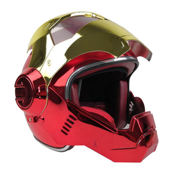 Vcoros Full Face Motocycle Helmet Iron Man Helmet With Removable and Washable Lining capacetes de motociclista capacete moto|Helmets| |  -