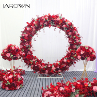 JAROWN Customize Backdrop Wedding Artificial Garland Arrangement Frame Background Decoration Flower Ball Arch Home Party Decor
