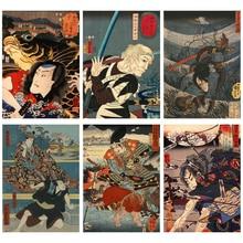 Sticker Self Adhesive Private Custom Design Japan Portrait Samurai Asian Warrior DIY Painted