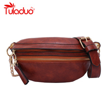 New PU Leather Waist Belt Bags For Women 2020 Solid Color Funny Packs Ladies Phone Female Pack