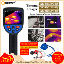 Fast delivery of XEAST 2020 measurable body temperature ultra clear LCD infrared imaging camera night vision thermal imager31/32