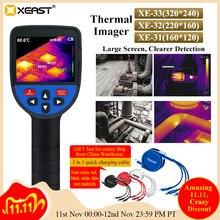 توصيل سريع لكاميرا XEAST 2020 لقياس درجة حرارة الجسم فائقة الوضوح LCD للتصوير بالأشعة تحت الحمراء كاميرا للرؤية الليلية كاميرا حرارية imager31/32