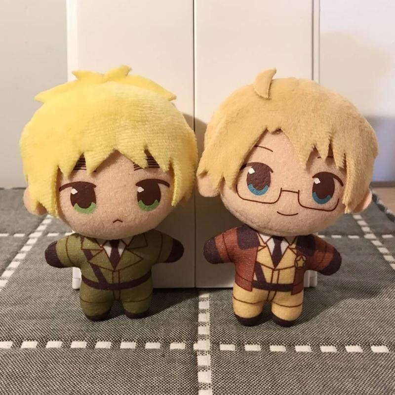 Anime APH Axis Powers Hetalia Arthur Kirkland Alfred F Jones Cosplay Props Toy Plush Stuffed Cartoon Pendant Doll Keychain Gifts