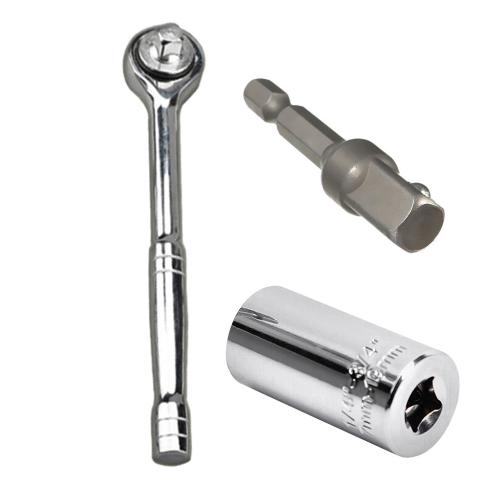 2pcs Set Tool Mechanics Socket Wrench Craftsman Piece Sockets Ratchet Car Tool