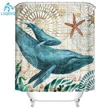 1 Waterproof Marine life Pattern  Bathroom Shower Curtain Multichoice 180*180cm