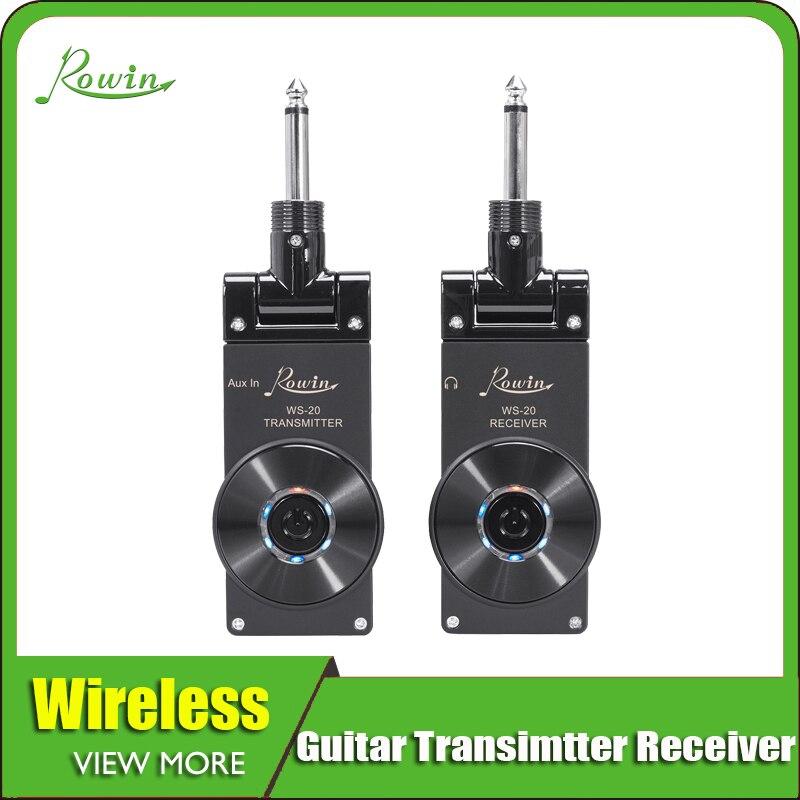 Rowin 2.4g guitarra sem fio sistema transmissor receptor para guitarra elétrica baixo