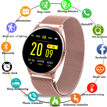 LIGE 2020 New Color Screen Smart Watch Women men Multifunctional Sport Heart Rate Blood Pressure IP67 Waterproof Smartwatch+Box 1