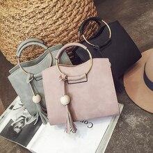 Square Bag Messenger-Bag Shoulder-Shoulder Small Foreign Metal-Ring Trade The of Korean-Version