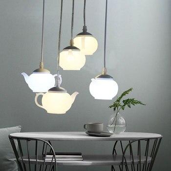 Moderna tetera con luces colgantes, lámparas Led nórdicas colgantes para comedor, cocina, habitación de Hotel, accesorios de iluminación, decoración del hogar