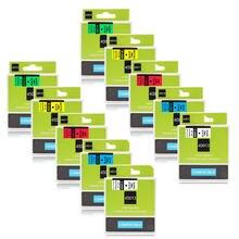 6/9/12mm de Fita para Fita DYMO D1 45013 40913 43613 45010 45016 45017 45018 45019 Fita de Etiquetas para Impressora DYMO LabelManager 160 280