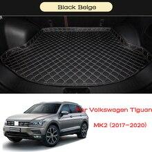 цена на Car Trunk Mat For Volkswagen VW Tiguan MK2 2017 2018 2019 2020 Car Waterproof Anti-dirty Boot Liner Tray Rear Trunk
