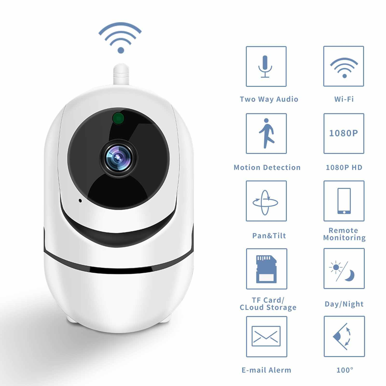 Smart Wifi Camera Hd 1080P Cloud Wireless Ip Camera Intelligent Auto Tracking Van Menselijk Home Security Surveillance
