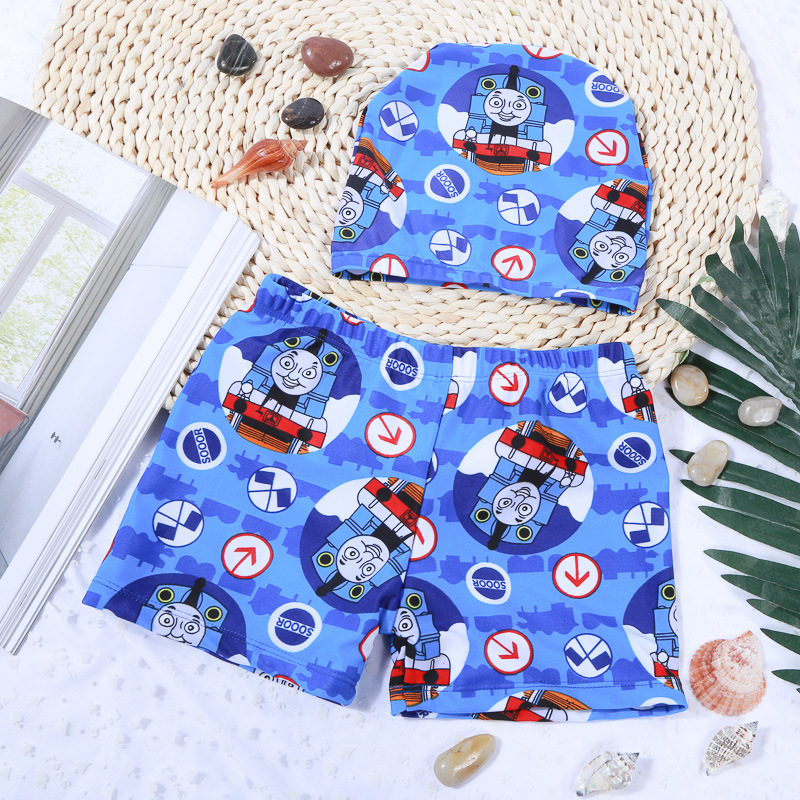 2019 Hot Sales CHILDREN'S Swimming Trunks With Swim Cap Customizable Outdoor Baby Boys' Swimming Shorts Students Swimming Trunks