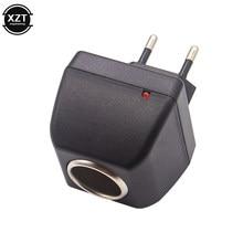 Adaptador ac com tomada para carro, carregador automático, tomada da ue, 220v ac para 12v dc, uso para carro eletrônico dispositivos usados em casa