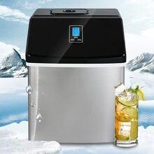 Máquina de cubitos de hielo comercial, fabricante de hielo cuadrado, inyección Manual de agua, 25KG
