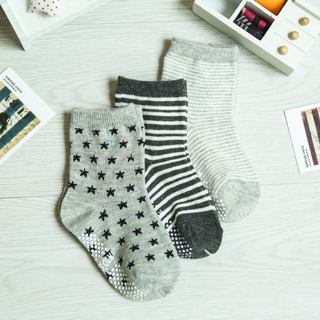 12 Pairs Baby Toddler Kid Sock Boy Girl Non Skid Anti Slip Knit Ankle Grip Sock 6