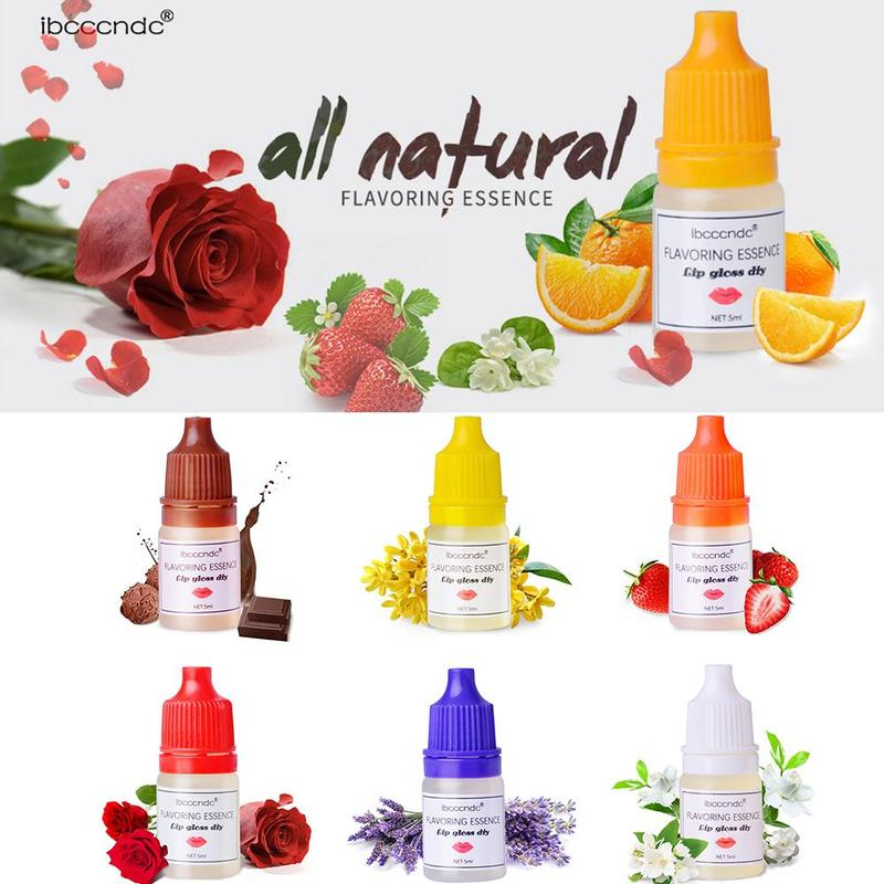 7 Color 5ml  Nature Flavoring Lip Gloss DIY Balm For Lip Gloss Makeup Pigment Nourish Lipstick Lip Balm Making Ingredients