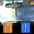 Durable Car Pleated Curtains Visor Sunshade Retractable Nylon Mesh Shield Curtain Side Window Car Sunshade Fold Curtain