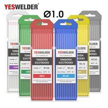 YESWELDER TIG сварки Вольфрам электроды 1,0, 1,6, 2,4, 3,2, 4,0 175 мм WP WT20 WC20 WL15 WL20 WX