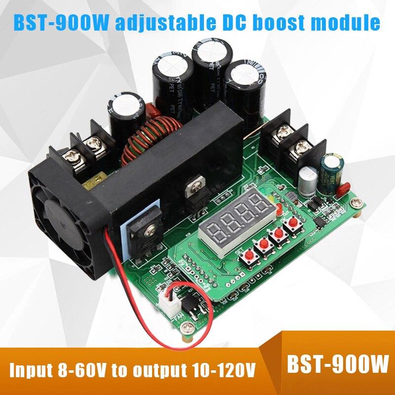 BST-900W DC Boost Converter High Precise LED Control 10A 120V DIY Voltage Transformer Module Regulator CLH@8