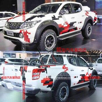For Mitsubishi L200 sticker body appearance modified sticker L200 pickup truck off-road sticker