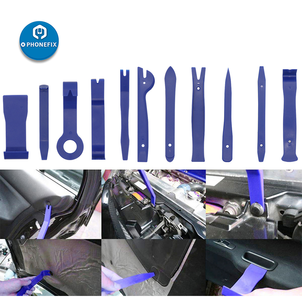 21 Pcs Auto Trim Door Panel Window Upholstery Molding Fastener Clip Removal Tool
