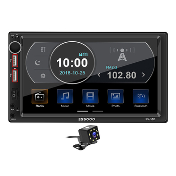 X5-DAB Car Radio Double 2 DIN Multimedia Video Player 7 inch Bluetooth AUX Input USB TF Auto Stereo In Dash Head Unit Auto Radio image