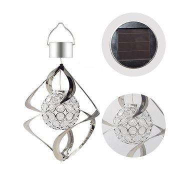 Carillón de viento con luz LED colgante Solar lámpara de jardín exterior colgante que cambia de color decoración del hogar de la fiesta de Navidad gran oferta