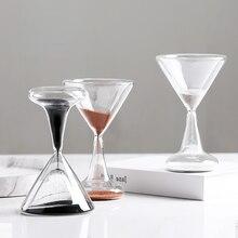 Creative European style wine red blackjack glass hourglass 1 minute timer, home study desktop soft decoration decoration