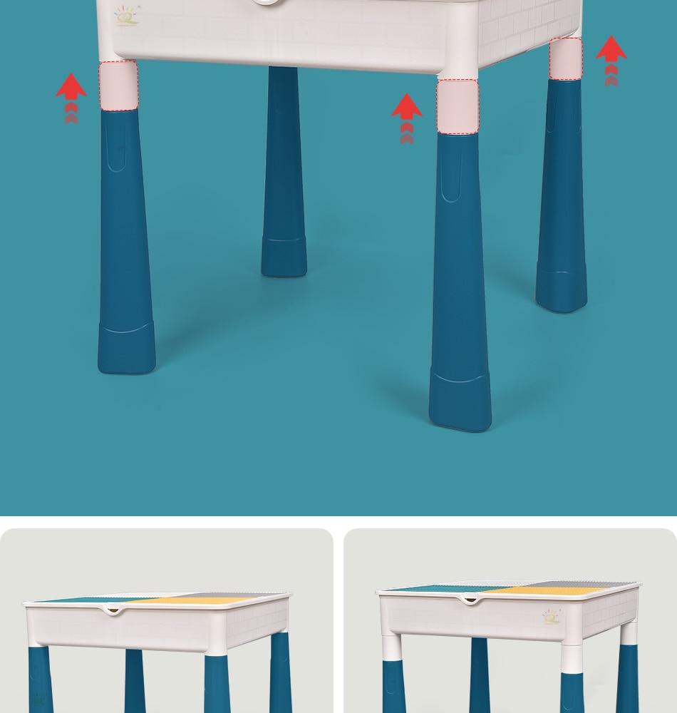 """конструктор huiqibao """"многофункциональный стол с одним стулом"""""""