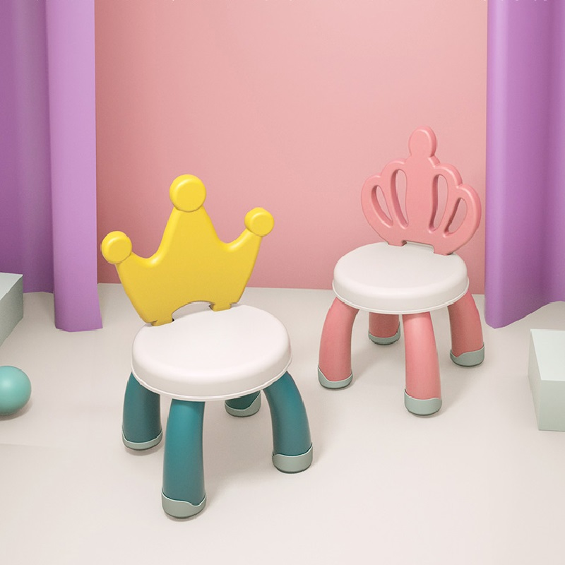 Sillon Niños Children's Stools Plastic Reinforced Infant Nursery Baby Cartoon Dining Chair Seats Non-Slip Household Small Bench
