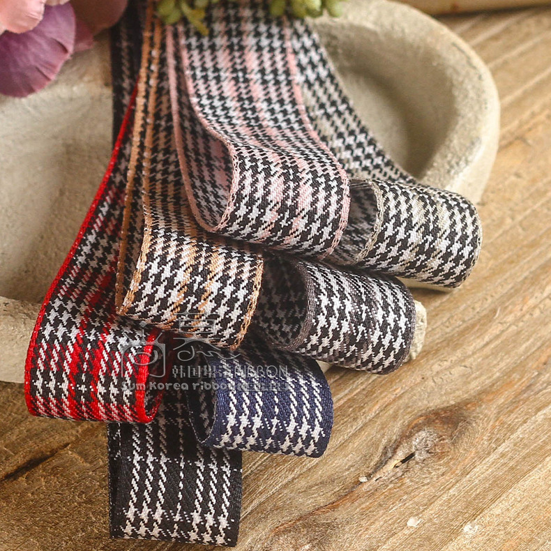 100yards 10 16 25 38mm houndstooth ribbon for garment apparel accessories bouquet flower packing bow